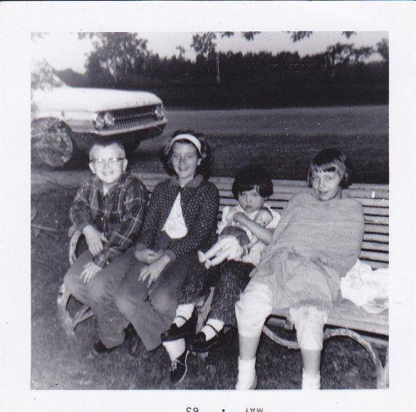 Joe, me, Donna, Carol 1963 at our favorite place in the world