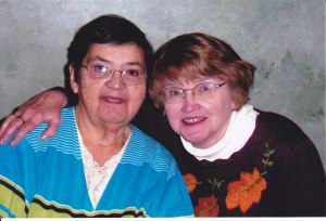 Aunt Carol (left) and Mom (right)